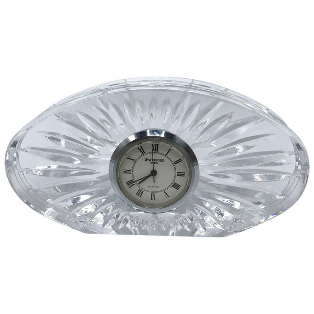 1980s Waterford Crystal Desk Clock For Sale
