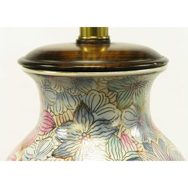Frederick Cooper Hand Painted & Gilt Porcelain Vase Table Lamp - Image 7 of 8