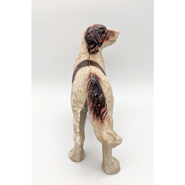 20th Century Figurative Cast Iron Red and White English Springer Spaniel Doorstop For Sale In Houston - Image 6 of 9