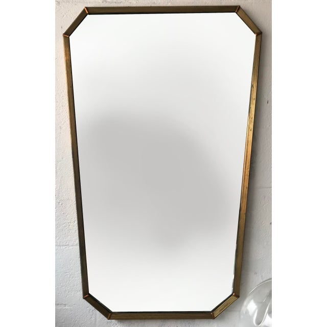 1950s Vintage Italian Mirror. For Sale - Image 5 of 5