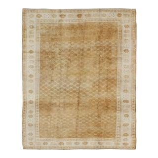 Vintage Turkish Carpet With Modern and Minimalist Design in Light Caramel, Light Camel & Ivory For Sale