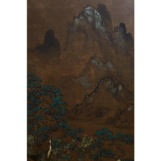 Japanese Four Panel Landscape Byobu Screen For Sale In San Francisco - Image 6 of 13