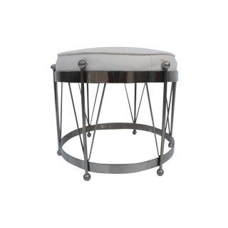 George Koch Mid-Century Vinyl & Chrome Drum Stool
