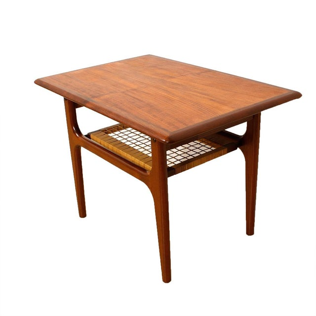 Vintage Danish Teak & Cane Accent Tables - A Pair - Image 5 of 5