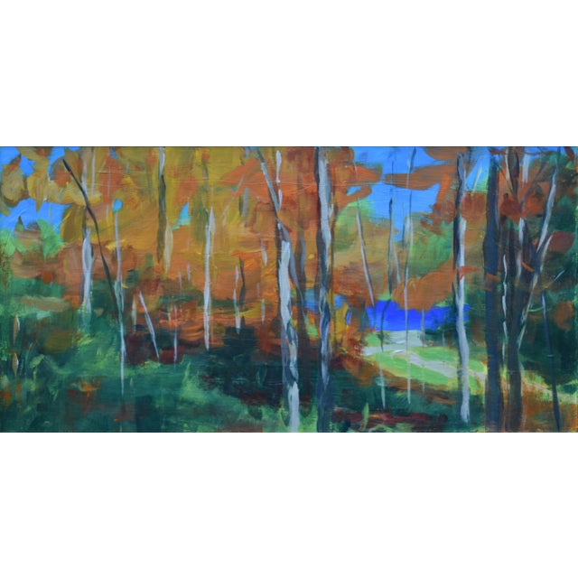 """""""Autumn by the River"""" Acrylic Painting by Stephen Remick For Sale - Image 9 of 9"""