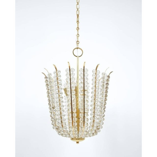 Majestic Basket Crystal and Brass Chandelier Bakalowits, circa 1950 For Sale - Image 9 of 9
