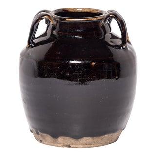 Vintage Chinese Glazed Soy Vessel For Sale