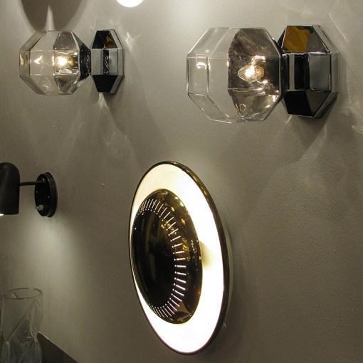 Chrome Motoko Ishii for Staff Leuchten Modulare Chrome and Glass Light For Sale - Image 8 of 10