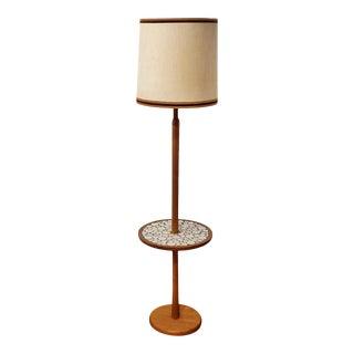 1960s Jane & Gordon Martz Teak and Tile Floor Lamp for Marshall Studios For Sale