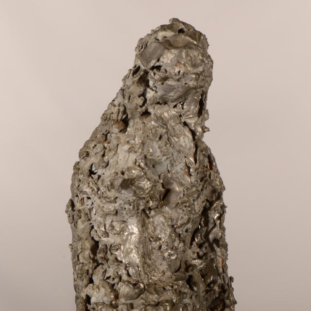 """Silver """"Silver Lady"""" Figurative Sculpture Statue For Sale - Image 8 of 12"""