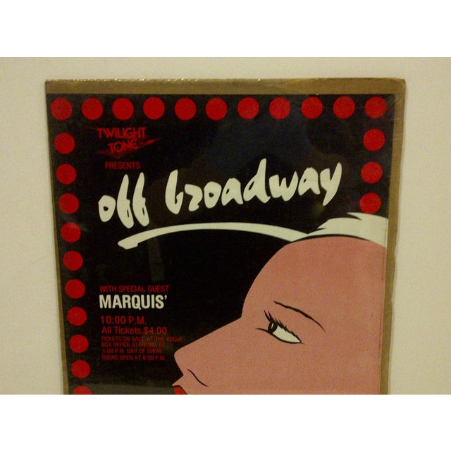 "Circa 1980 Vintage ""Off Broadway"" Theater Poster - Image 3 of 5"