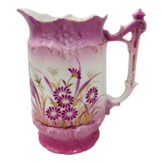 Antique Hand Painted Porcelain Vase For Sale