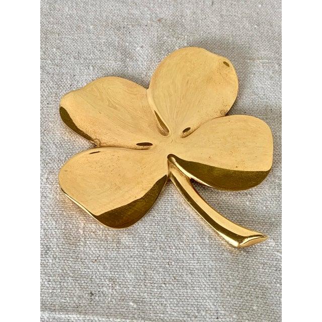 Vintage Gold Four Leaf Clover For Sale - Image 10 of 10