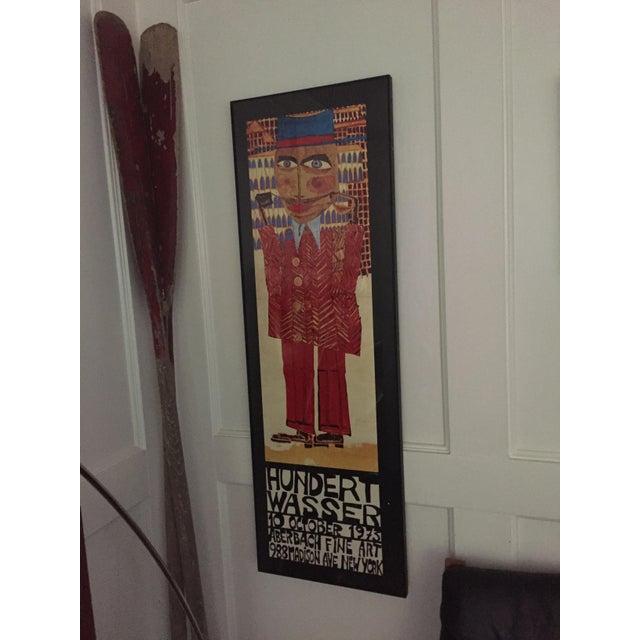 """Vintage 1973 Framed """"Hundertwasser"""" Exibition Poster For Sale In Baltimore - Image 6 of 11"""