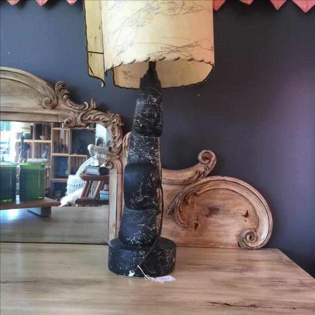 Mid Century Lamp with Fiberglass Shade - Image 3 of 9