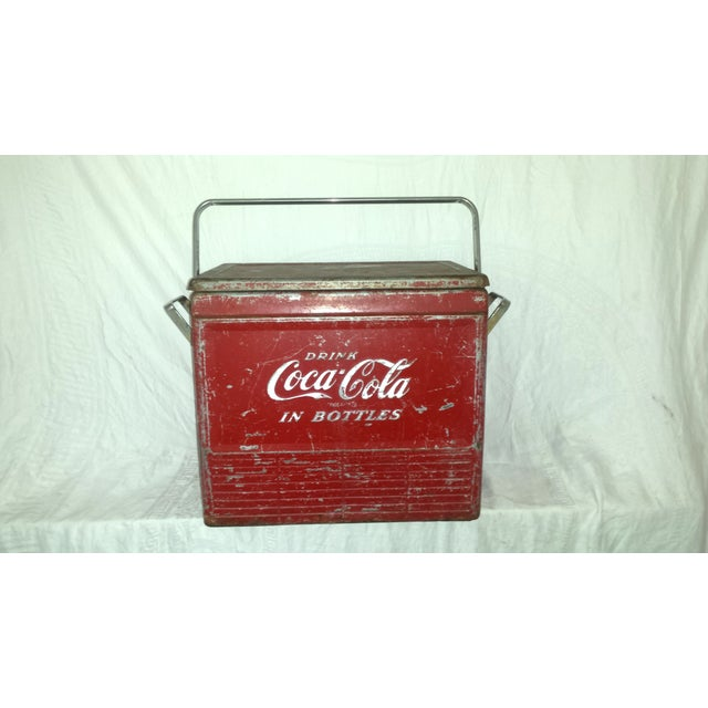 1955 Original Coca Cola Cooler Drink Server - Image 4 of 9