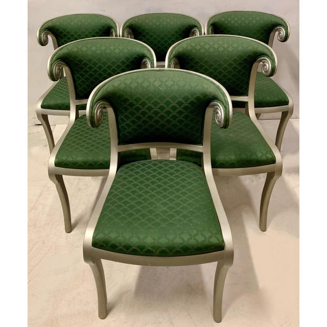 Set of 8 Casa Stradivari Neo-Classical Klismos Dining Chairs For Sale - Image 11 of 12