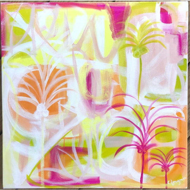 """2010s """"Palms in Paradise"""" Contemporary Painting For Sale - Image 5 of 5"""