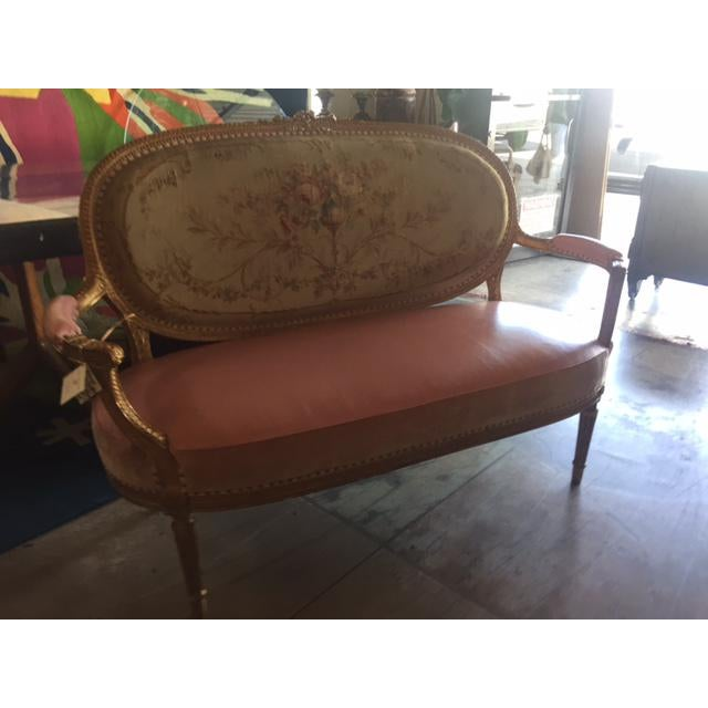 Early 20th Century Antique French Settee For Sale - Image 10 of 11