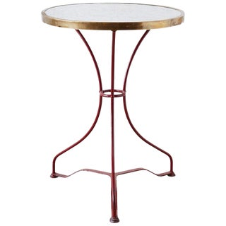 French Iron and Marble-Top Bistro Table For Sale