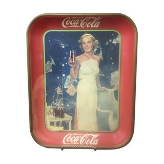 Vintage Coca Cola Advertising Tray C. 1935 For Sale