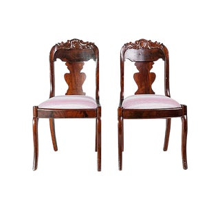 19th Century Shield-Back Hall Chairs - A Pair