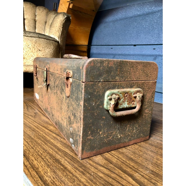 Whether we're late to the vintage-car party or just appreciate up-cycling old warriors—this metal toolbox deserves another...