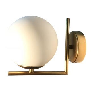Mid-Century Modern Style Globe Sconce For Sale