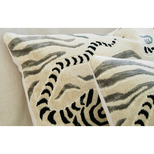 Clarence House Tibet Dragon Fabric Pillows - Pair - Image 9 of 11