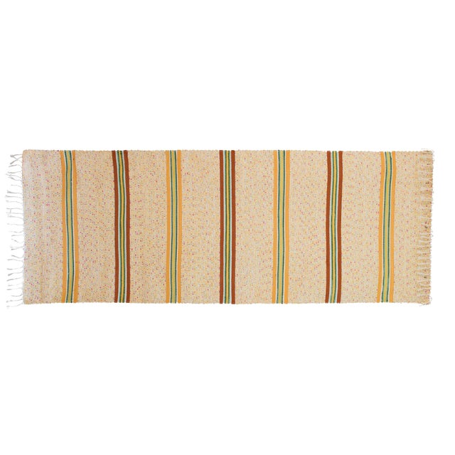Swedish Handwoven Rug- 2′5″ × 6′10″ - Image 1 of 5
