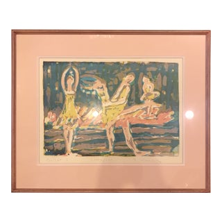 "Vintage ""Ballet 1"" Screen Print by F. Sulmovitz For Sale"