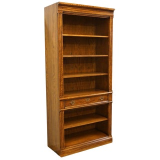 20th Century Italian Thomasville Furniture Wall Unit Open Bookcase For Sale