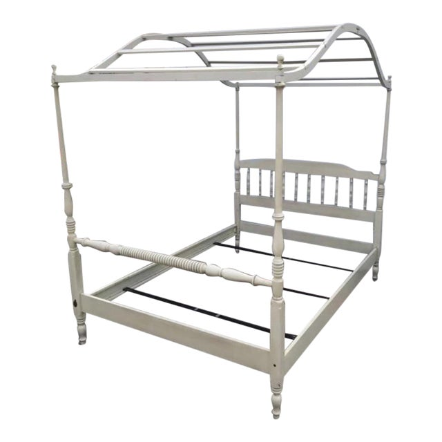 Vintage Full Size Ethan Allen Canopy Bed For Sale