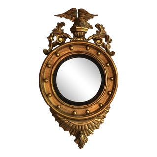 19th Century American Empire Convex Mirror For Sale