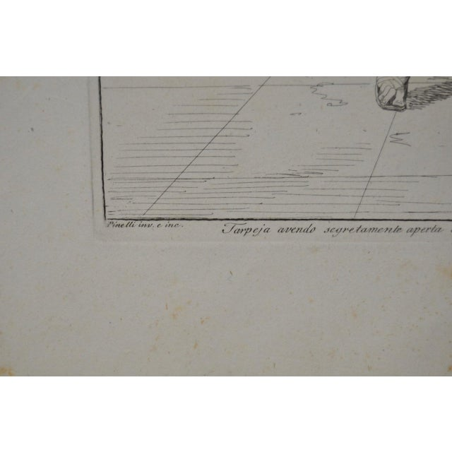 """Bartolomeo Pinelli Engraving """"Killed in Betrayal"""" c. 1818 For Sale - Image 4 of 7"""