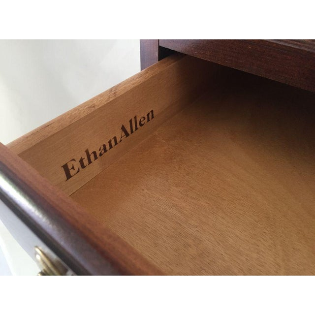 Ethan Allen Solid Cherry Small Chest / Bedside Chest For Sale In New York - Image 6 of 7