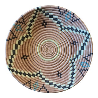 African Woven Decorative Bowl For Sale