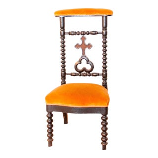 19th Century French Napoleon III Second Empire Prie-Dieu Prayer Chair For Sale