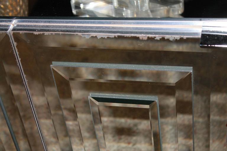 Ello Furniture Ello Six Door Mirrored Chrome Credenza For Sale   Image 4 Of  10