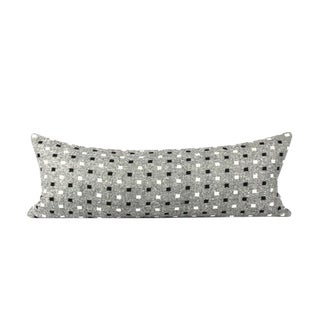 Pendleton Geometric Gray Wool Throw Pillow