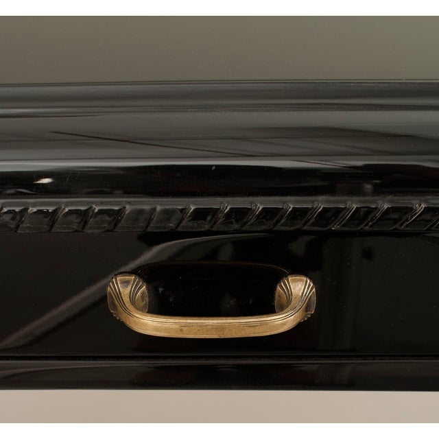 Mid 20th Century French Art Deco Ebonized Desk For Sale - Image 5 of 7