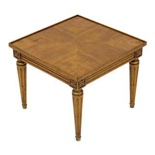 Square Neoclassical-Style Side Table