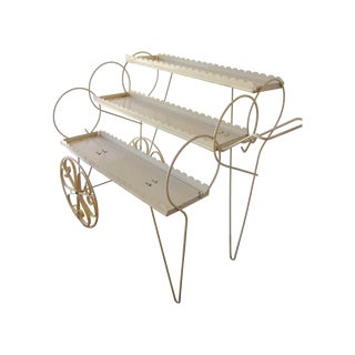 Vintage 1950s Plant Flower Display Cart For Sale
