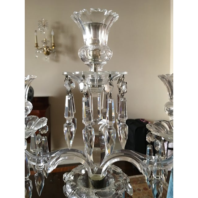 Antique Crystal Candelabras - A Pair - Image 4 of 5