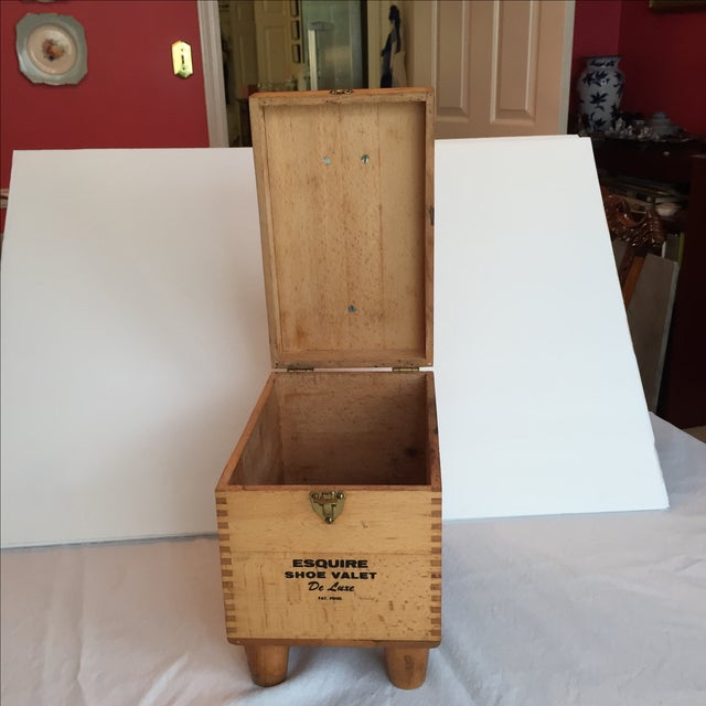 Esquire Shoe Valet DeLuxe Wooden Box - Image 7 of 11