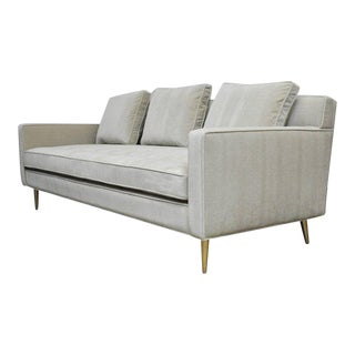 Dunbar Sofa by Edward Wormley on Brass Legs