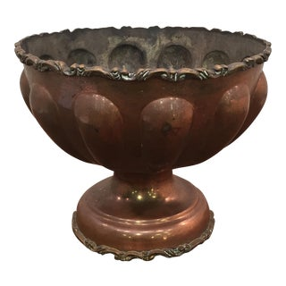 Copper Plated Punch Bowl