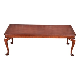 Kittinger Queen Anne Walnut Coffee Table For Sale