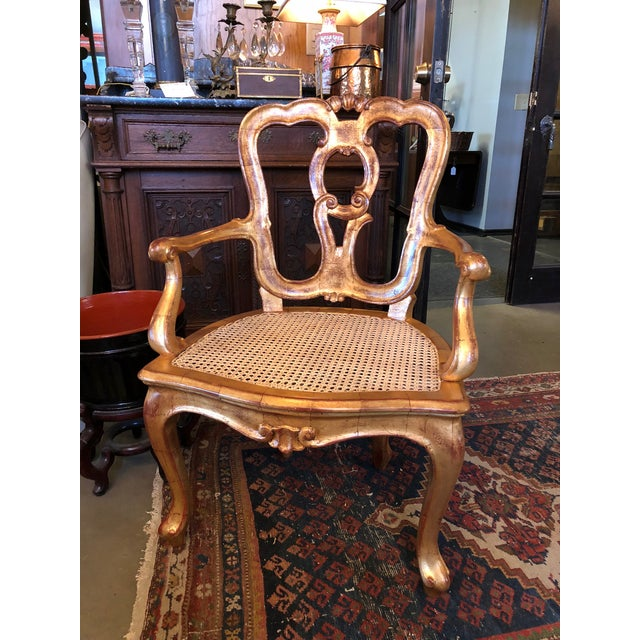 Late 19th Century Antique Hand Carved Venetian Arm Chair For Sale - Image 11 of 11