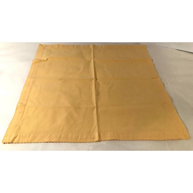 Textile Vintage Yellow Dinner Napkins - Set of 4 For Sale - Image 7 of 8